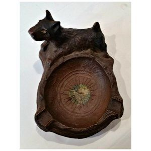 Syroco Wood Scottish Terrier Ashtray Niagara Falls